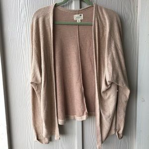 Cream/blush relaxed cardigan
